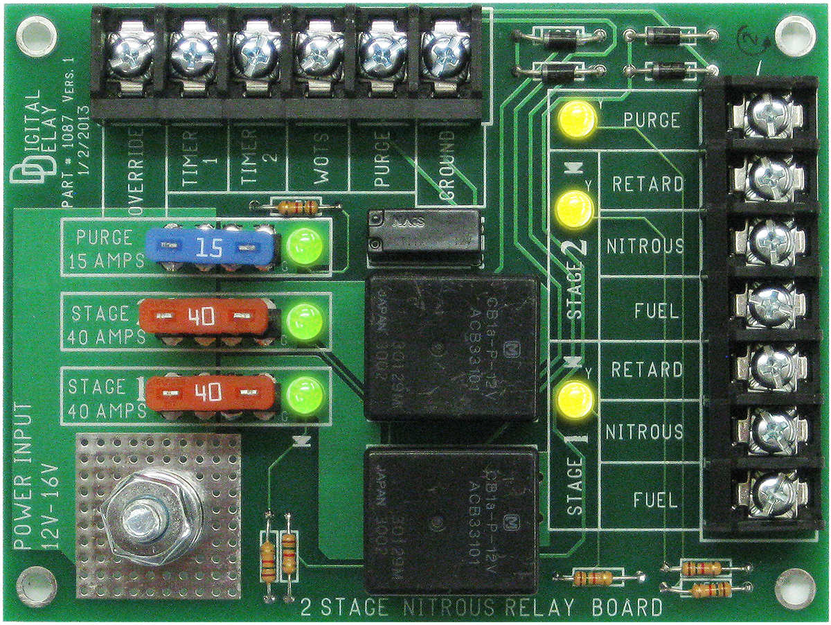 digital delay nitrous boards 2 stage 2 stage nitrous relay board